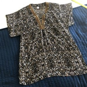 Badgley Mischka cover up or sheer blouse